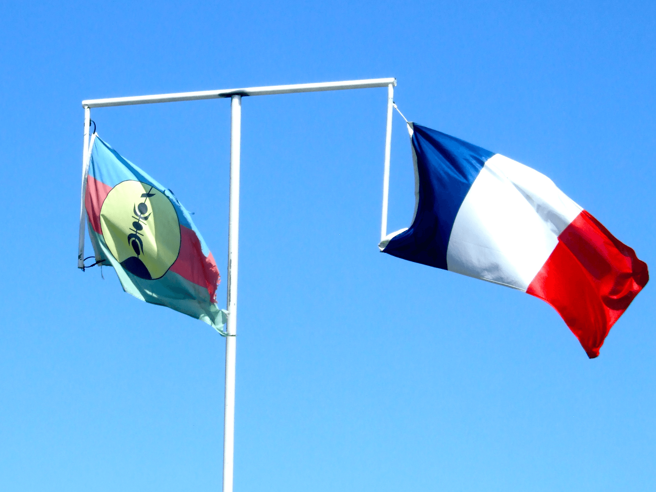Two official flags of New Caledonia